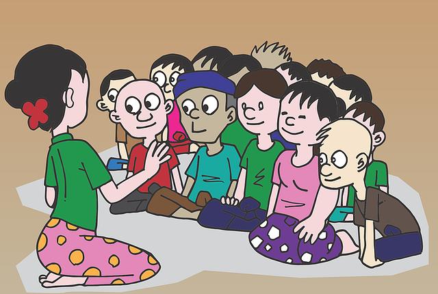 Děti a učitel