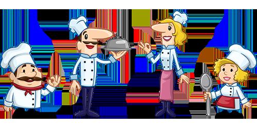 Ilustrace kuchaře