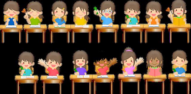 Děti v lavicích